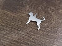 Boxer Dog Natural  Charm silhouette solid sterling silver Handmade in the Uk